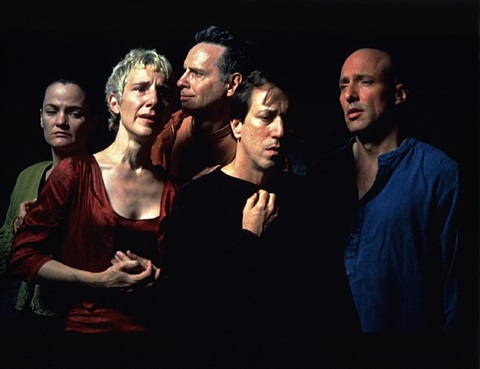 the quintet of the unseen, 2000 (production still) by bill viola
