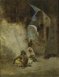 orientalische ansicht mit zwei männern by mariano josé maría bernardo fortuny y carbó