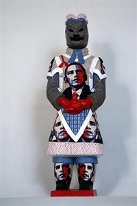terracotta warrior - obama by liu fenghua & liu yong