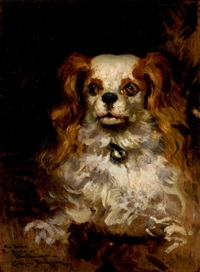 the duke of marlborough, portrait of a puppy by james carroll beckwith