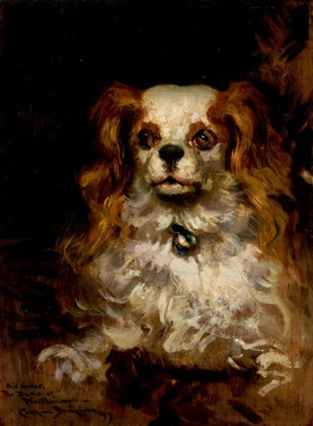 the duke of marlborough portrait of a puppy by james carroll beckwith