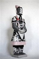 terracotta warrior - winston churchill by liu fenghua & liu yong