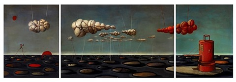 artificial clouds triptych by joe kesrouani
