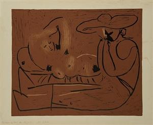 l'aubade avec joueur d'harmonica by pablo picasso