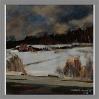 the first snow, korpilahti by akseli valdemar gallen-kallela
