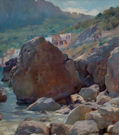 town by rocky waters by august achtenhagen