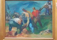 road workers by bernard glasgow