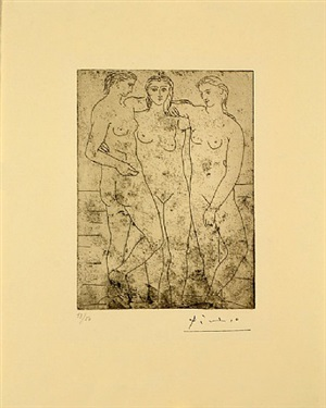 les trois baigneuses ii by pablo picasso