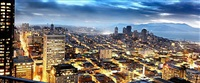 san francisco dusk by david drebin