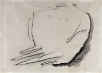 study for seated figures by kenneth armitage