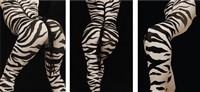 zebra triptych by vitaliy and elena vasilieva