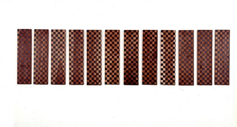 untitled (12 checked paintings) by sherrie levine