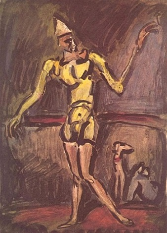 le clown jaune (from le cirque) by georges rouault