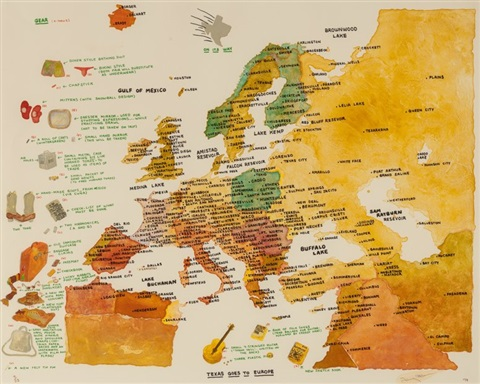 Texas Vs Europe Map.Texas Goes To Europe By Terry Allen On Artnet