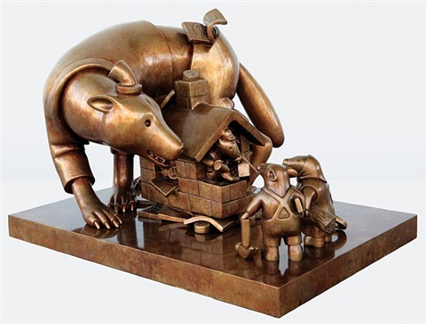 bad wolf by tom otterness