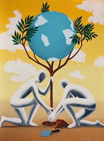 give leaves a chance by mark kostabi
