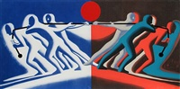 tug of war by mark kostabi