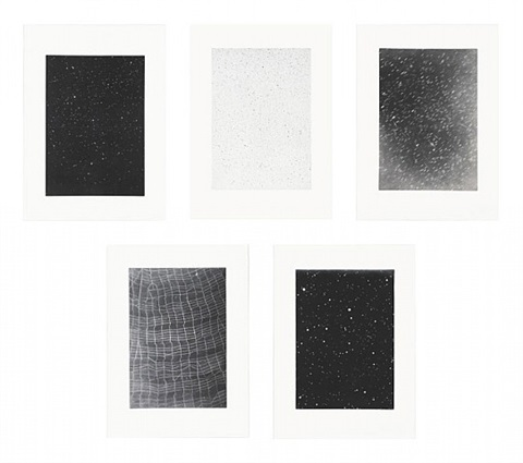 reverse galaxy, falling stars, divided night sky, dark galaxy, web ladder by vija celmins