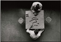 dominoes, cell block table, the walls, texas department of corrections by danny lyon
