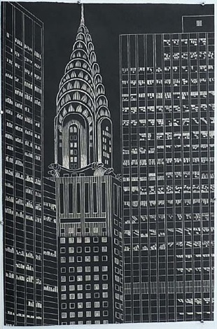 chrysler building by yvonne jacquette
