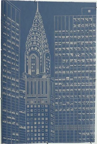 chrysler building, state ii by yvonne jacquette