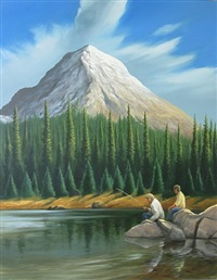 mountain lake by anthony benton gude