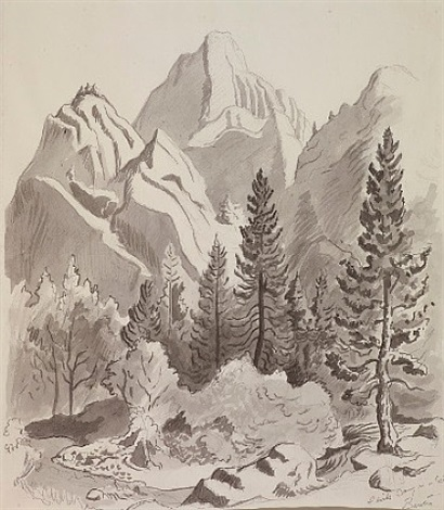 devil's camp in ca by thomas hart benton