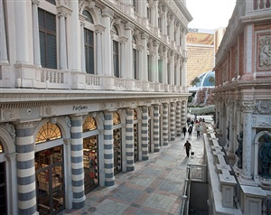 <!--02-->venice, las vegas: alley next to campanile tower by andrea robbins and max becher