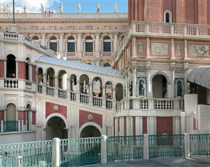 <!--02-->venice, las vegas: meeting place: rialto bridge and campanile tower by andrea robbins and max becher