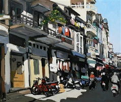 ha trung street at noon by pham luan