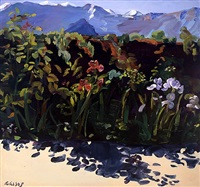 irises with shadows near and far by adele alsop