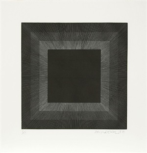 midnight suite (black with silver) by richard anuszkiewicz