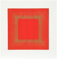 : summer suite (red with gold ii) by richard anuszkiewicz