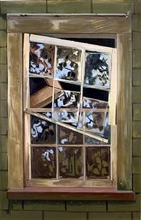 falling window sash by lois dodd