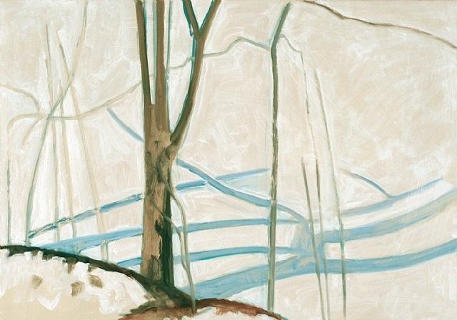 blair pond frozen by lois dodd
