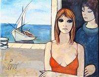 femmes dans un port by charles levier