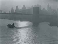 tug and barge, east river by consuelo kanaga