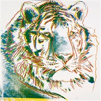 endangered species: siberian tiger by andy warhol