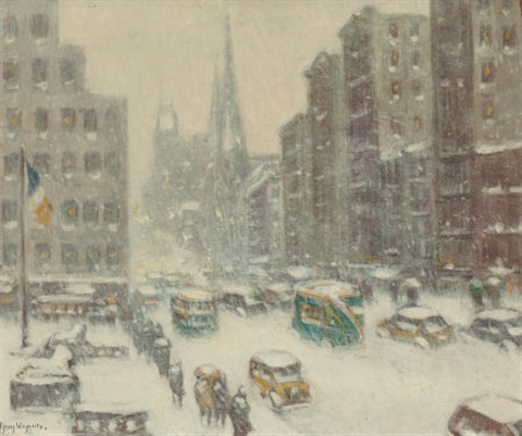 the library 5th avenue by guy carleton wiggins