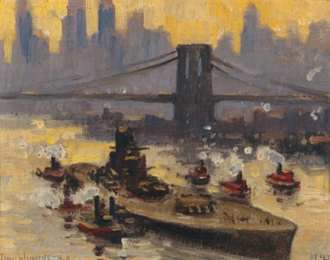 the french warship richelieu in the east river by guy carleton wiggins