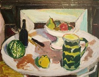 still life with fruit and pitcher by roger marcel limouse