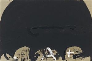negre amb corbes (schwarz mit bögen) by antoni tàpies