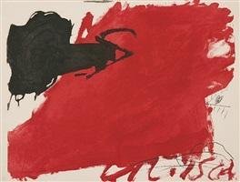 "gran taca roja aus ""negre i roig"" (""großer roter fleck"" aus ""schwarz und rot"") by antoni tàpies"