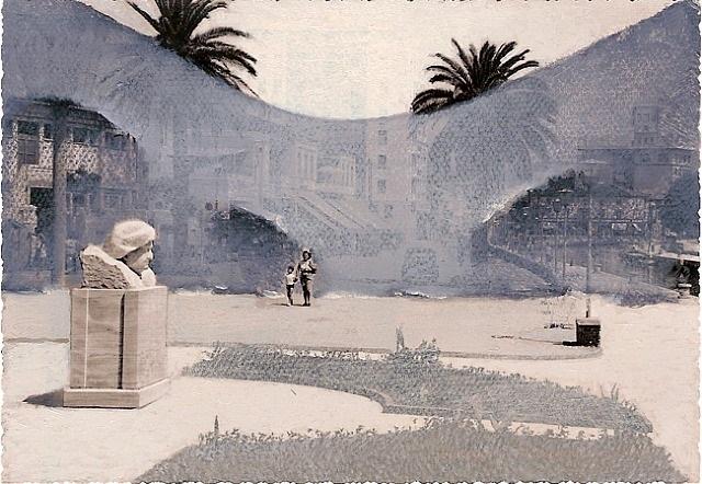promenade on the quay, i by lino mannocci