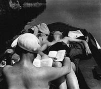 bibi et michèle verly, lac d'aix-les-bains, mai 1928 by jacques henri lartigue