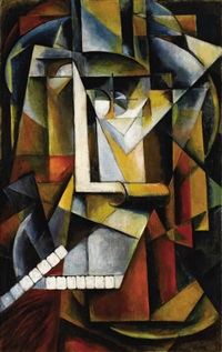 abstract cubism comoposition by ivan vasilievich klyun