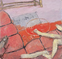 pink couch by susan rothenberg