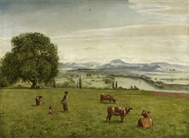 the rhine valley near säckingen by hans thoma
