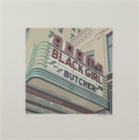 adams black girl and the butcher by robert cottingham