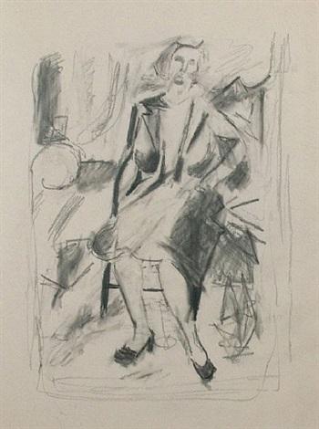 seated figure (z. sharkey) by jack tworkov